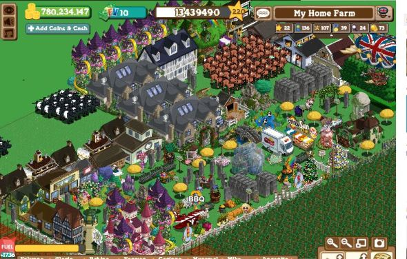 Farmville: I added some stuff in the garden like Stonehenge