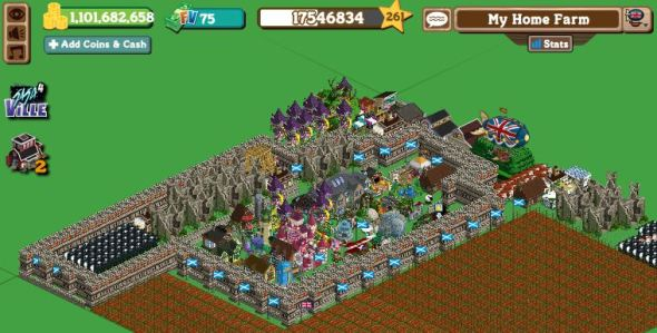 Farmville Home farm showing my castle