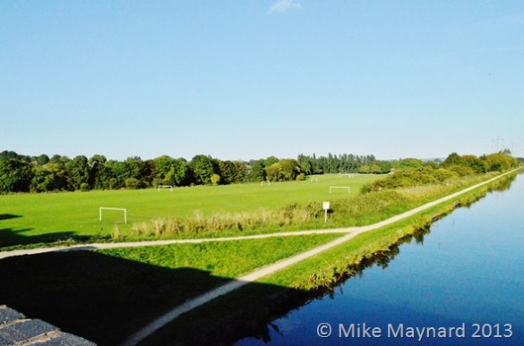 Playing fields and canal