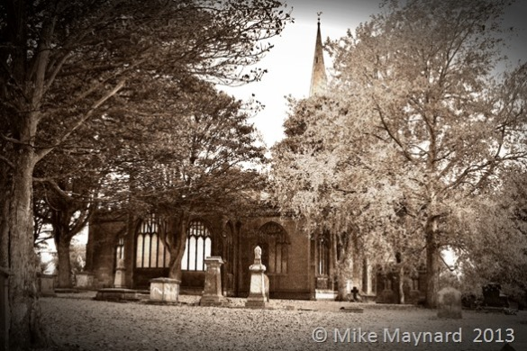 Church in sepia