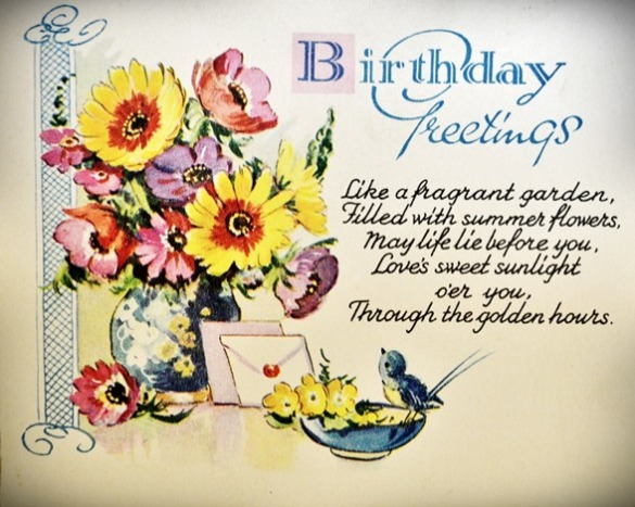 1 birthday card