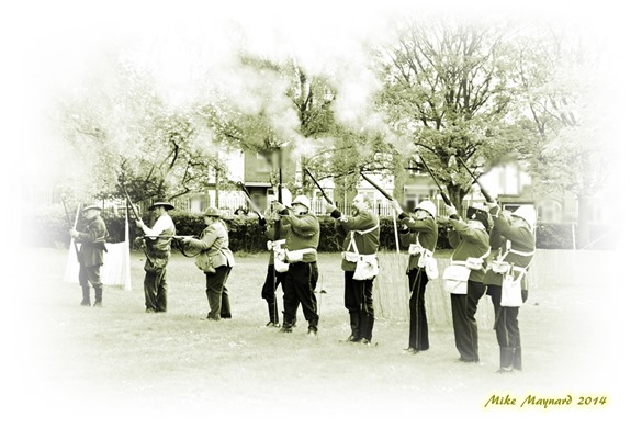 1 soldiers in sepia  firing