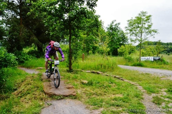 Cyclist on the trail through Sandwell Valley Country Park