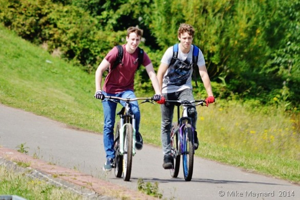 Cyclists in Sandwell Valley