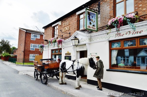 Horse and Cart outside pub