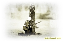 1 art soldier in sepia